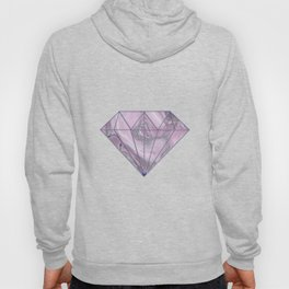 Gemstone Agate Collage Pink and Gray Hoody