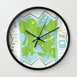 Totally Inaccurate Map of Gifford Pinchot State Park Wall Clock