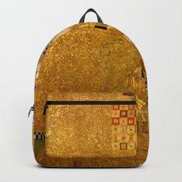 Woman in Gold Portrait by Gustav Klimt Backpack