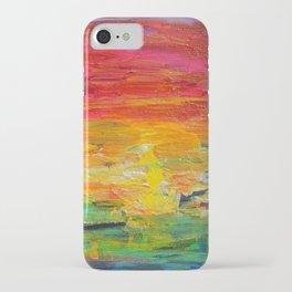 Ombre Rainbow Sunset iPhone Case