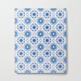 Blue Porcelain Pattern 2 Metal Print