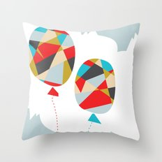Celebrate Shapes  Throw Pillow