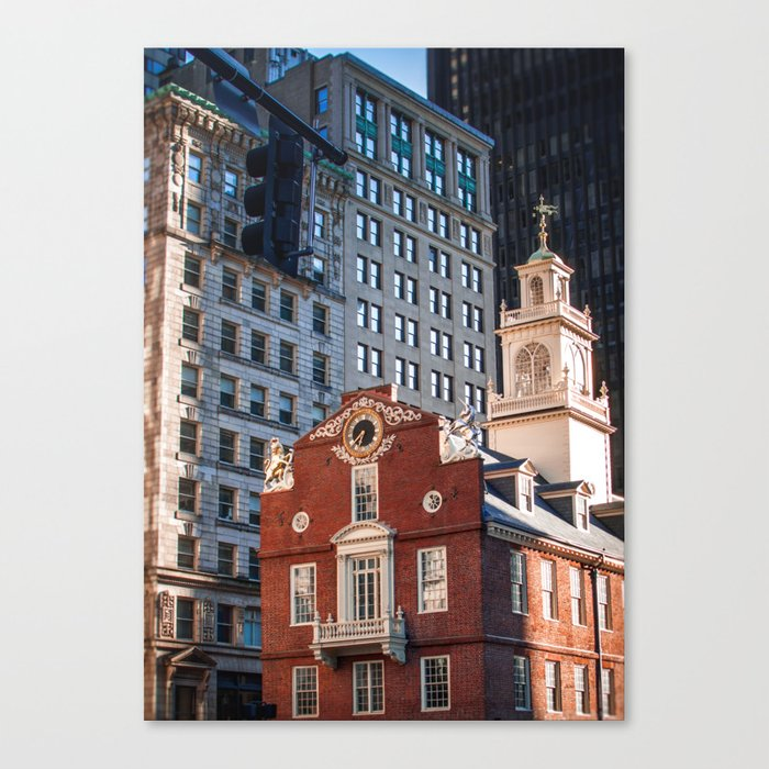 A Golden Day - Boston Old State House Canvas Print