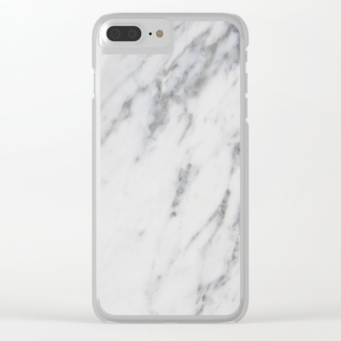 Real Marble 017 Clear iPhone Case