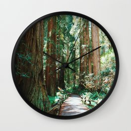 The Redwoods Wall Clock