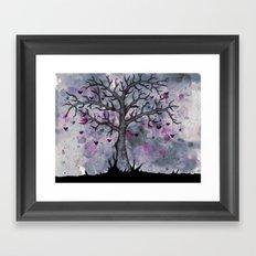 Heart & Star Tree Framed Art Print