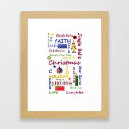 Christmas Message Framed Art Print