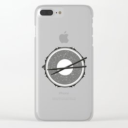 Drum with drumsticks Clear iPhone Case