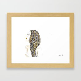 yellow rasta Framed Art Print