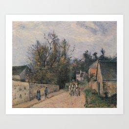 Camille Pissarro - Rue de l'Hermitage near Ennery, Pontoise Art Print