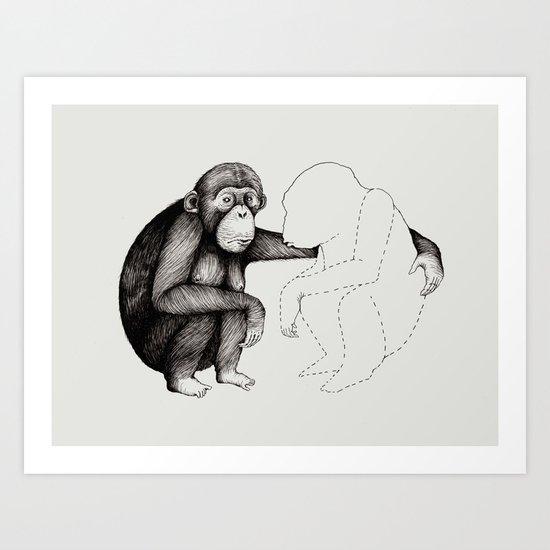 'Gone' Art Print