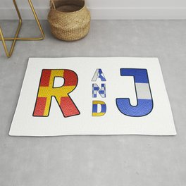 Romeo and Juliet - Navy Code Rug