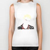 buffy the vampire slayer Biker Tanks featuring Spike - Buffy the vampire slayer by Rebecca McGoran