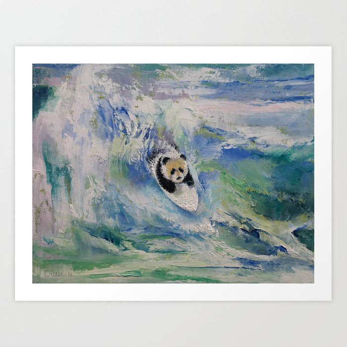 Panda Surfer Art Print By Michaelcreese Society6