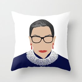 Ruth Bader Ginsburg RBG Throw Pillow