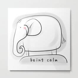 Being Calm #happylala Metal Print