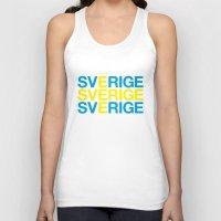 sweden Tank Tops featuring SWEDEN by eyesblau