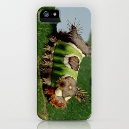 Caterpillar Eating a Leaf iPhone Case