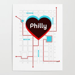 Philly In Transit Poster