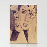 katniss Stationery Cards featuring Katniss Everdeen by KOverbee