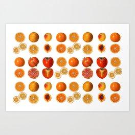 Fruit Attack Art Print