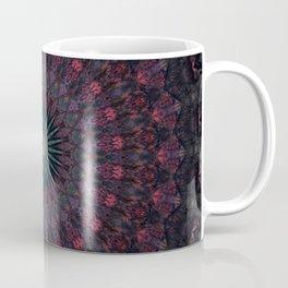 Mandala in dark red and brown tones Coffee Mug