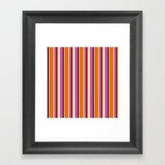 Fun Stripes pink orange Framed Art Print