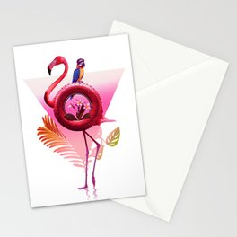 Flamingo Rider Stationery Cards