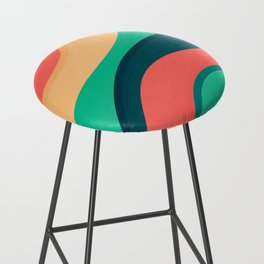 The river, abstract painting Bar Stool