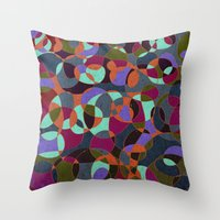 mosaic Throw Pillows featuring  Mosaic by Tony Vazquez