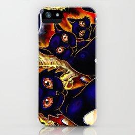 Three Halloween Cats iPhone Case