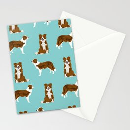 Border Collie red coat dog breed pet friendly gifts for collie lovers Stationery Cards