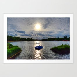 Paddleboats in Hyde Park Art Print