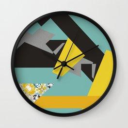 bee' flower geometric Wall Clock
