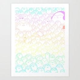 Penguins Everywhere Art Print
