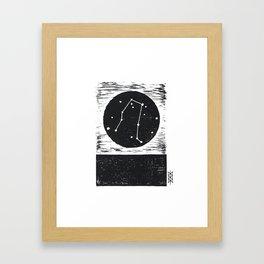 Gemini Linocut Framed Art Print