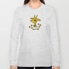 vintage reindeer christmas cheer by surfy birdy Long Sleeve T-shirt