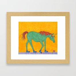 Unicorns love Cupcakes Framed Art Print