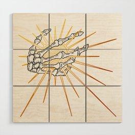 Skeleton Hand Inktober :: Dreadful Fairy Tales Wood Wall Art
