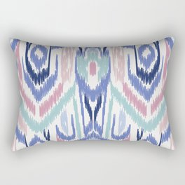 Ikat Ikat Pastel Wandering Rectangular Pillow