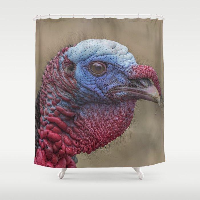 Turkey Time Portrait Shower Curtain By Rogerporter