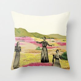 Human Cacti Throw Pillow