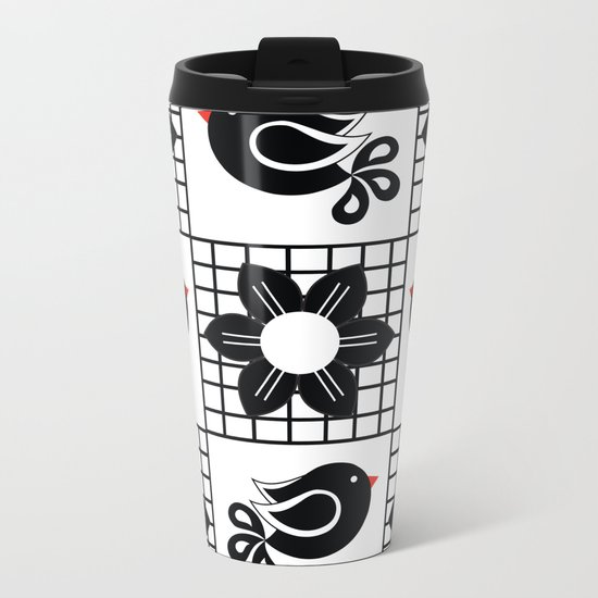 Pattern T Metal Travel Mug