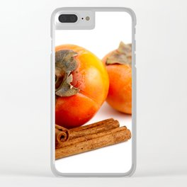 Persimmon Cinnamon Clear iPhone Case