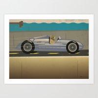 scuba Art Prints featuring Scuba Driver by Chris Cooch
