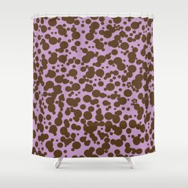 Bubbles in the Batter - Lavender-Chocolate Shower Curtain