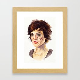 Lena Watercolor Framed Art Print