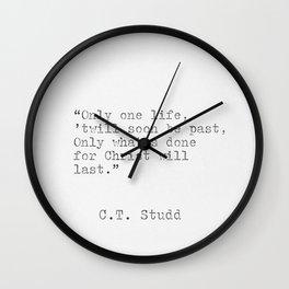 C.T. Studd Wall Clock