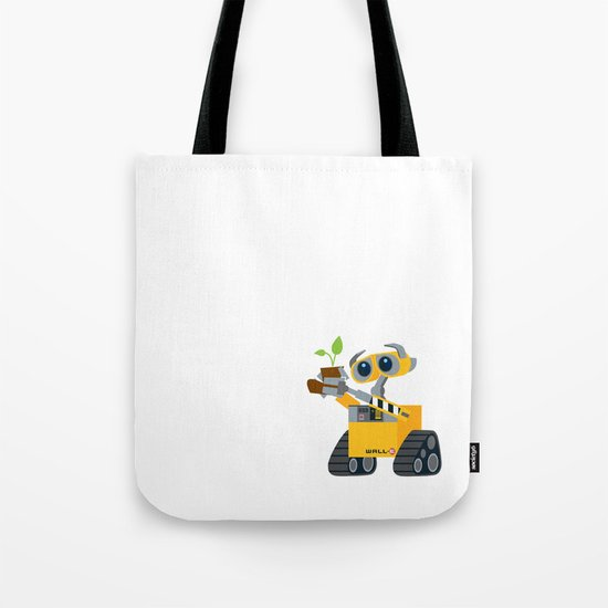 walle with plant Tote Bag
