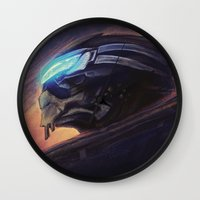 garrus Wall Clocks featuring The Art of Calibration by Sempaiko